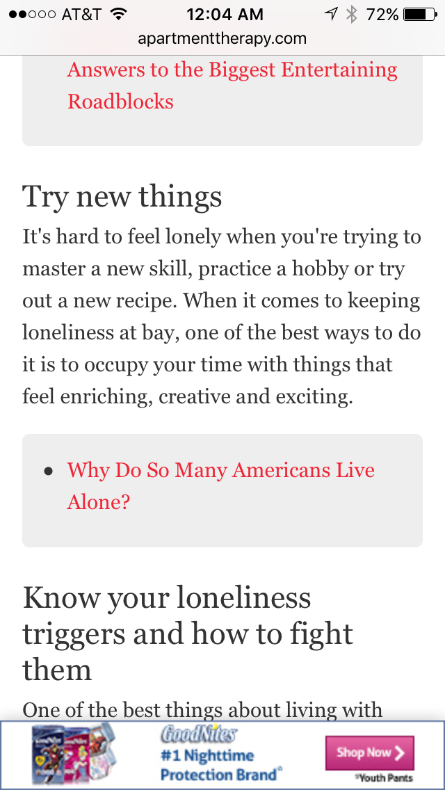 ways to not be lonely