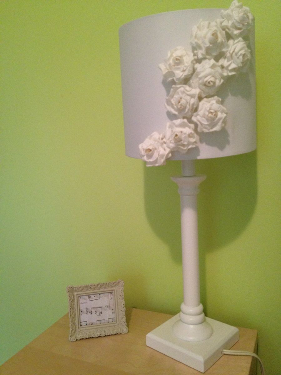 DIY Shabby Chic Floral Lamp Shade Shabby chic lamp