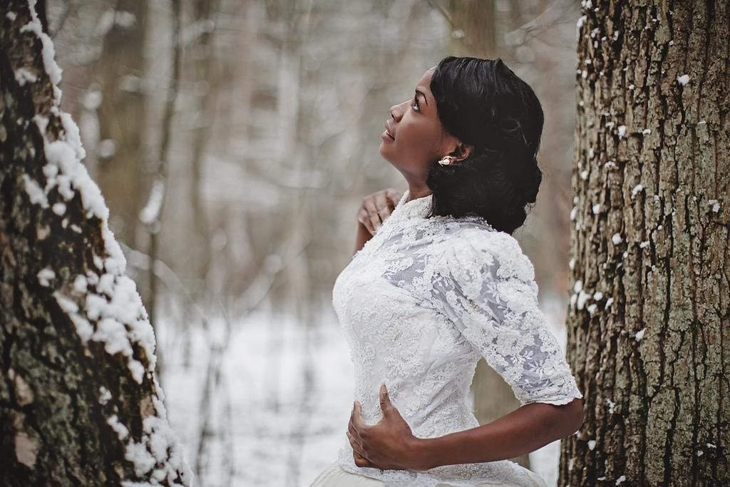 Winter Symphony  -  Bride: Bebe Make-Up Artist: Jenny Wieland Dress: Weiße Orchidee Brautmoden Photography: Yuliya Bahr aka Ulinea
