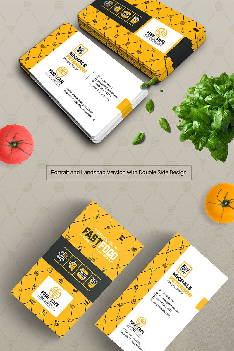 Business Card For Fast Food Company Business Card Print Custom Business Card Digital Print File Company Business Cards Printing Business Cards Restaurant Business Cards