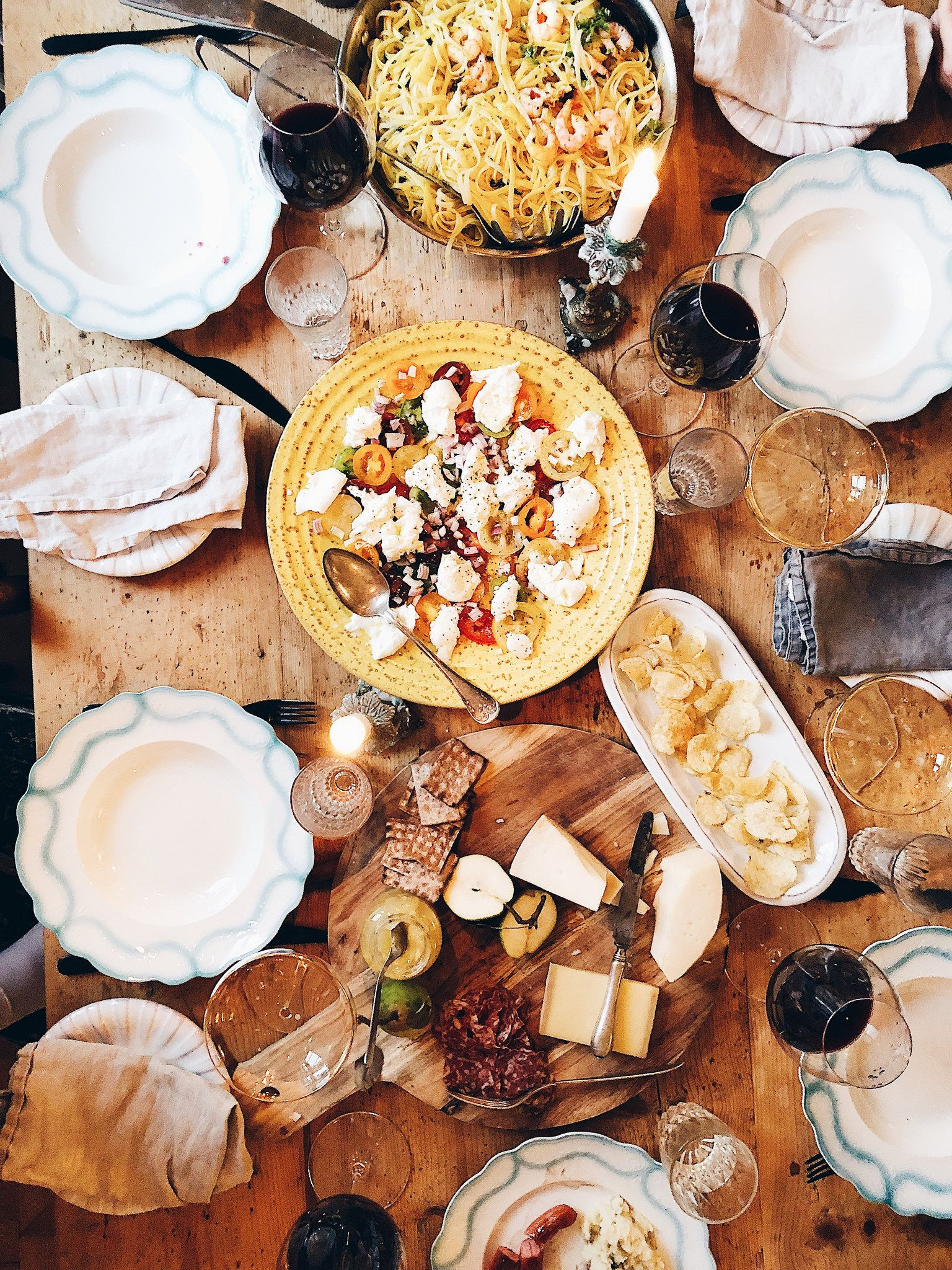 Abendessen Party Interiør | Brunch Time, Food, Beautiful Food
