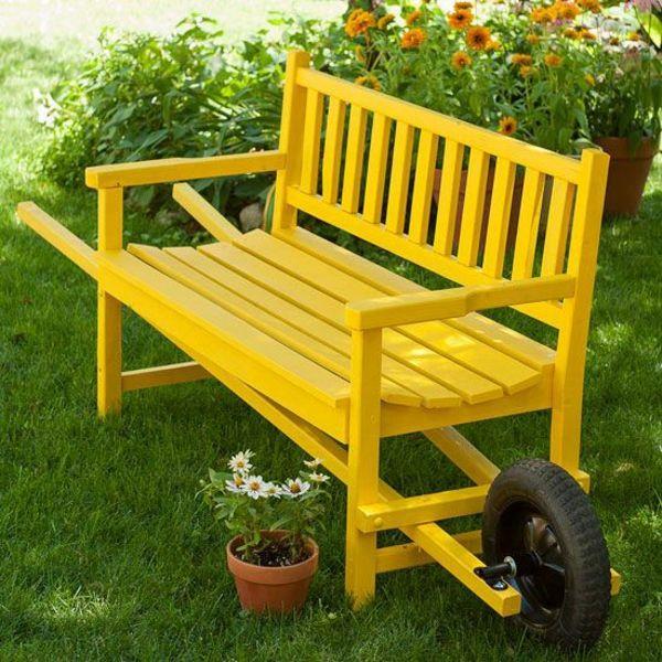 Garten Ideen Holz Massiv Holzgartenbank Holzbank Garten