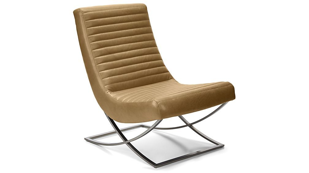 Cooper Armless Leather Chair   Fawn   $1,799 (less 15% Is $1,439.20)    Beautiful Chair For The Living Room