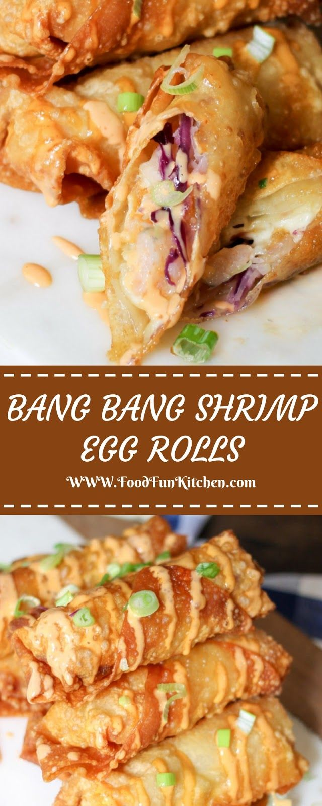 BANG BANG SHRIMP EGG ROLLS #eggrolls