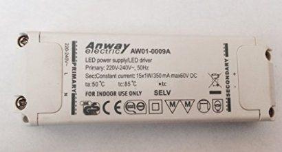 Anway Aw01 0009a Led Trafo 15x1w 15w 60v Dc Power Supply 350ma A3154 Led Power Supply Power