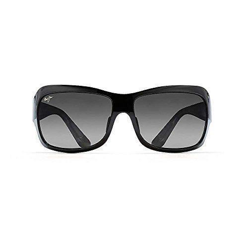 453191f091 Maui Jim Sunglasses Seven Pools Gloss Black Fade Grey GS418-02J Polarised  62-