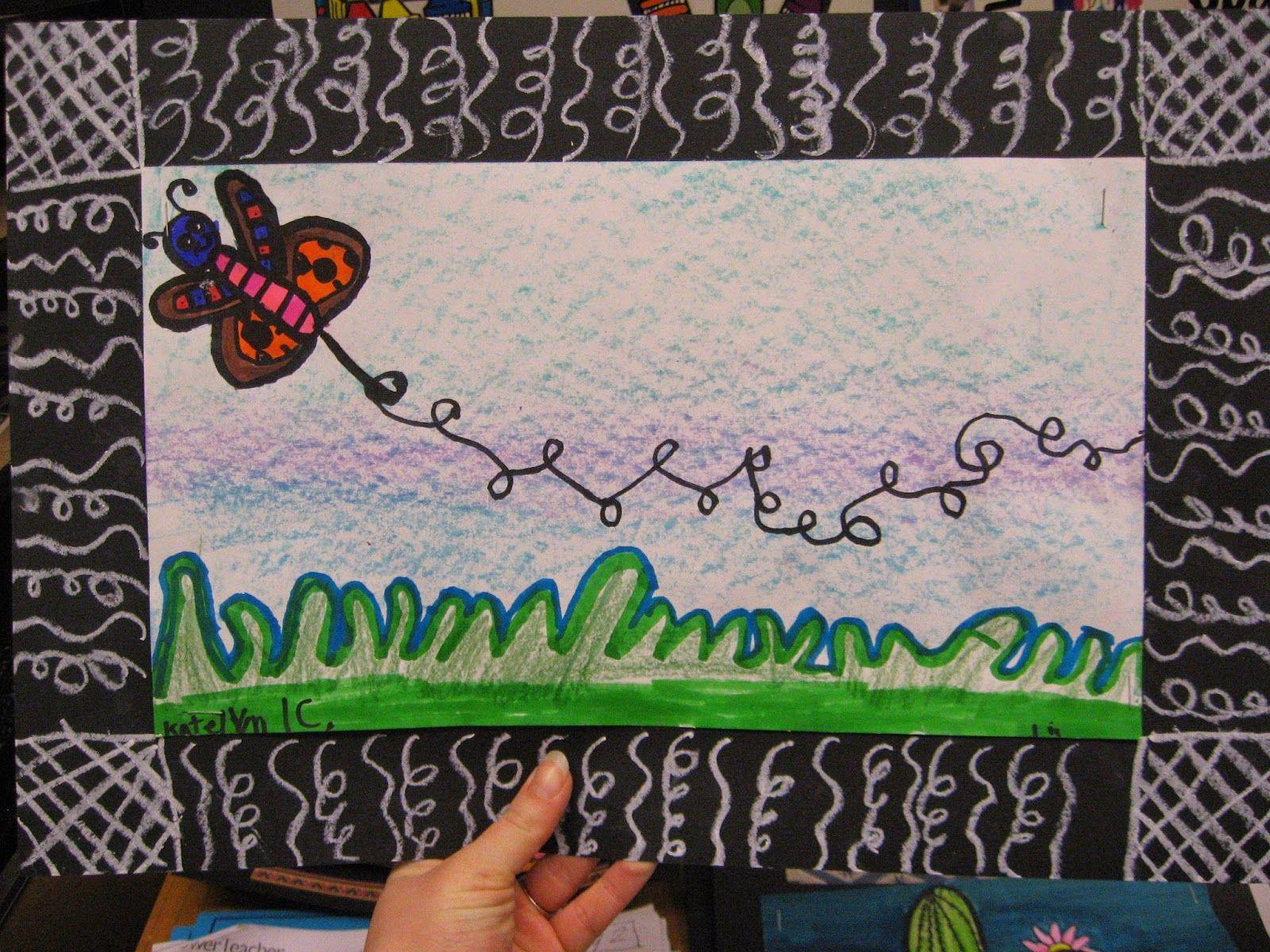 1st Grade Movement And Line Bugs Jamestown Elementary Art