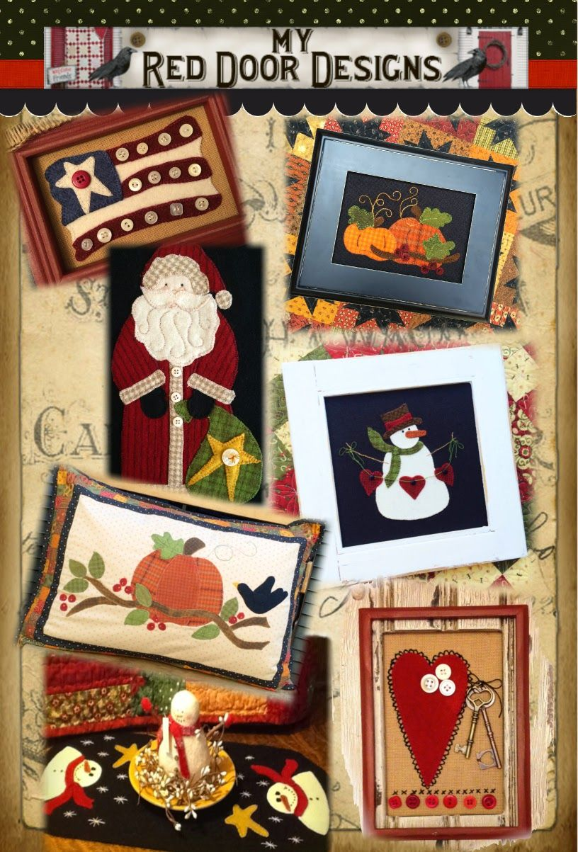 My Red Door Designs Wool Applique Wool Pinterest Wool
