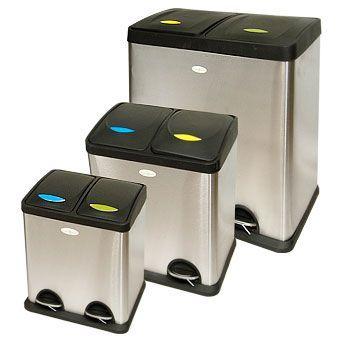 Cubo ecol gico premium 2 residuos recogida selectiva - Cubos para reciclar ...