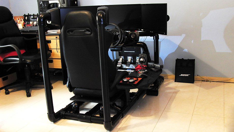 8 awesome pvc sim racing rig sim racer gamer chair. Black Bedroom Furniture Sets. Home Design Ideas