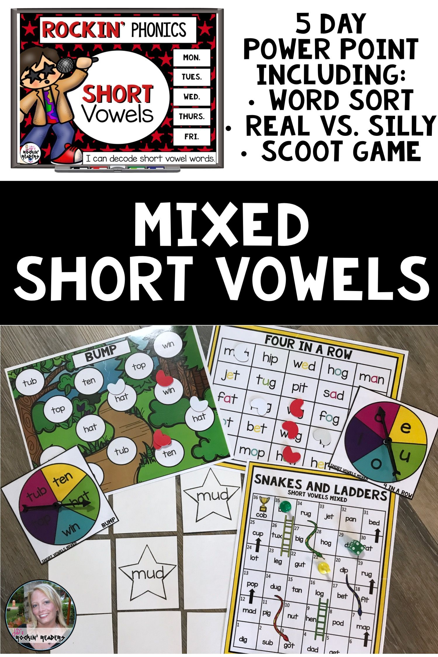Short Vowels Word Work Activities And Games With Images
