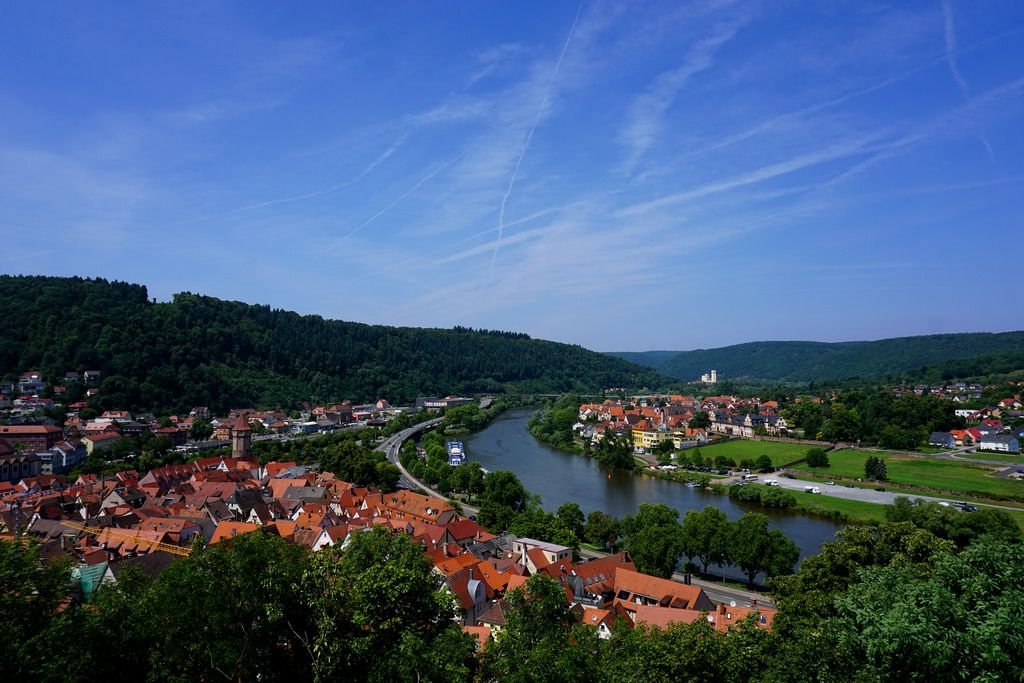 Wertheim am Main, a view over the town from the castle Baden-Württemberg, Southwestern Germany. Wertheim is best known for its wine, its landmark castle, and the medieval town center. (via willkommen-in-germany)