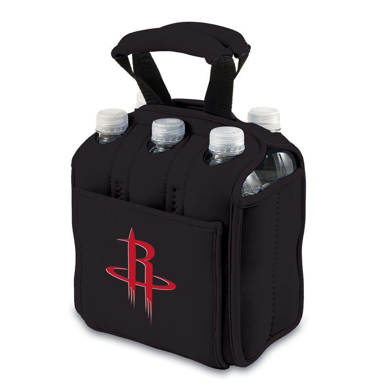 Houston Rockets 6-Pack Neoprene Cooler – Black