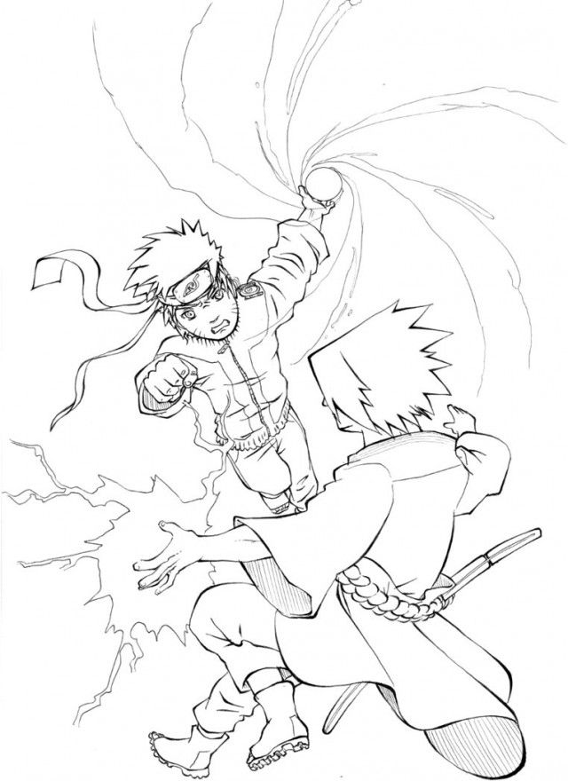 Naruto Shippuden Vs Sasuke Final Battle Coloring Sheets 190297