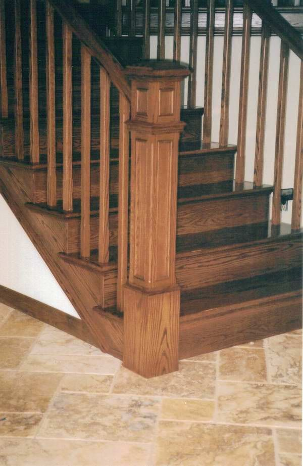 Wood Newel Posts Craftsman With Recessed Panel Detail