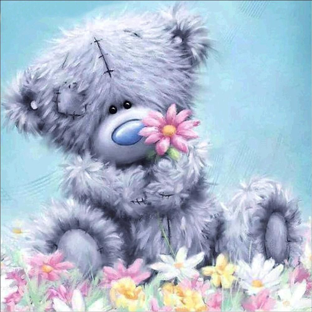 Photo of Cute Bear Doll 5D Diamond Painting Cross Stitch Kit DIY Wall Craft Bedroom Decor – as the picture u