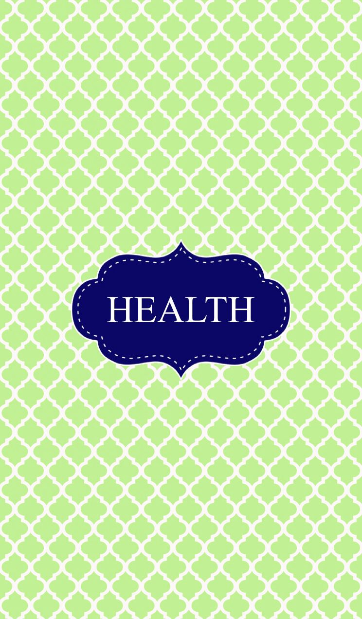 green health binder cover