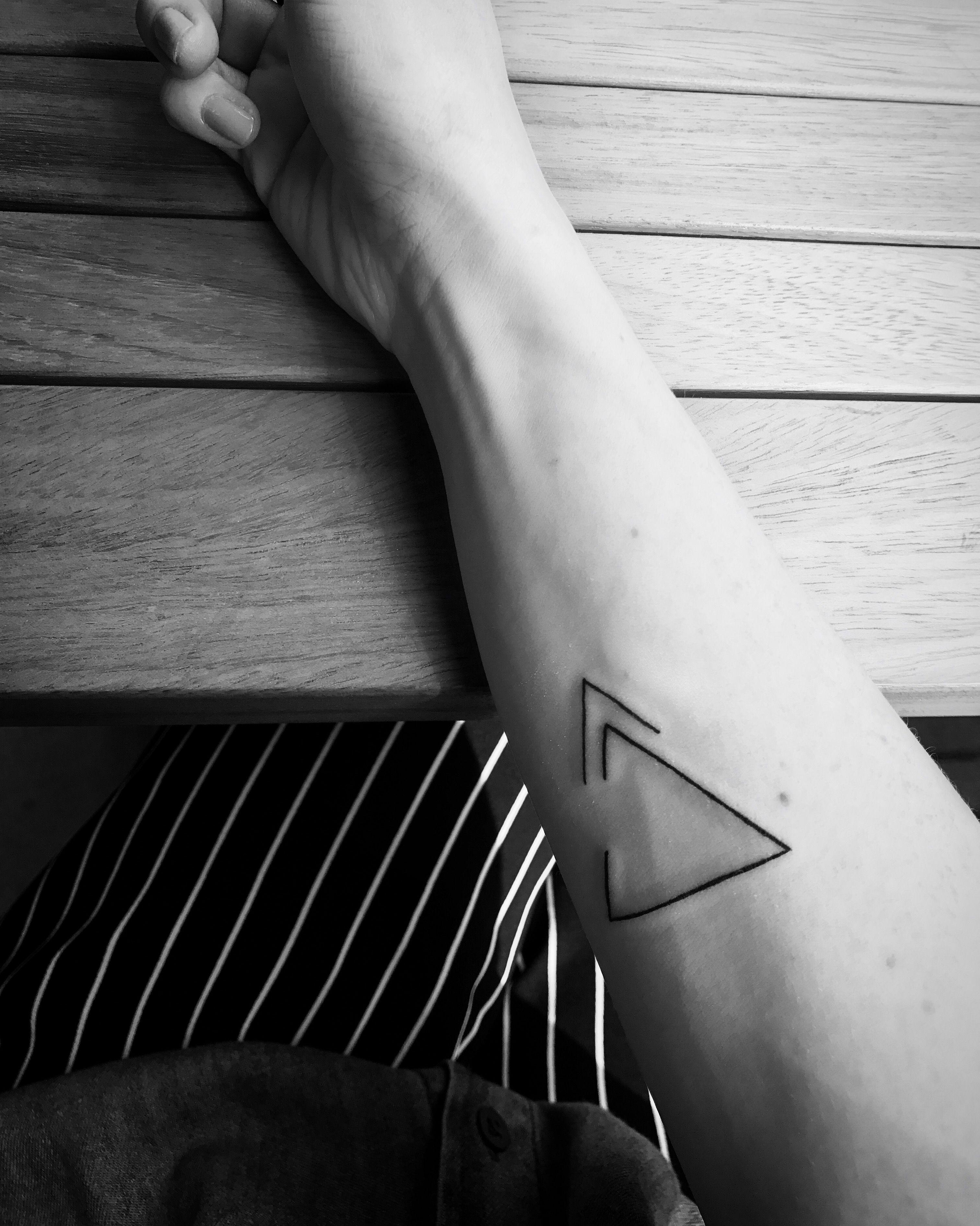 Delta Symbol. Upper (arrow) means progress, moving forward