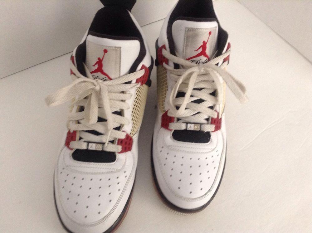sports shoes 9096f 5c274 Men s Nike White AF-1 Flight Best Of Both Worlds Air Jordan Basketball  Shoes 11  Nike