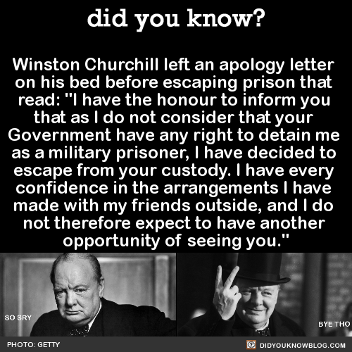 Winston Churchill Left An Apology Letter On His Bed Before