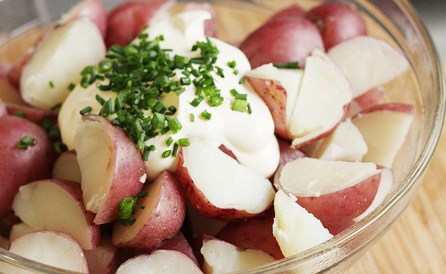 Mexican Fiesta Potato Salad Sour Cream Potato Salad Sour Cream Potatoes Picnic Foods