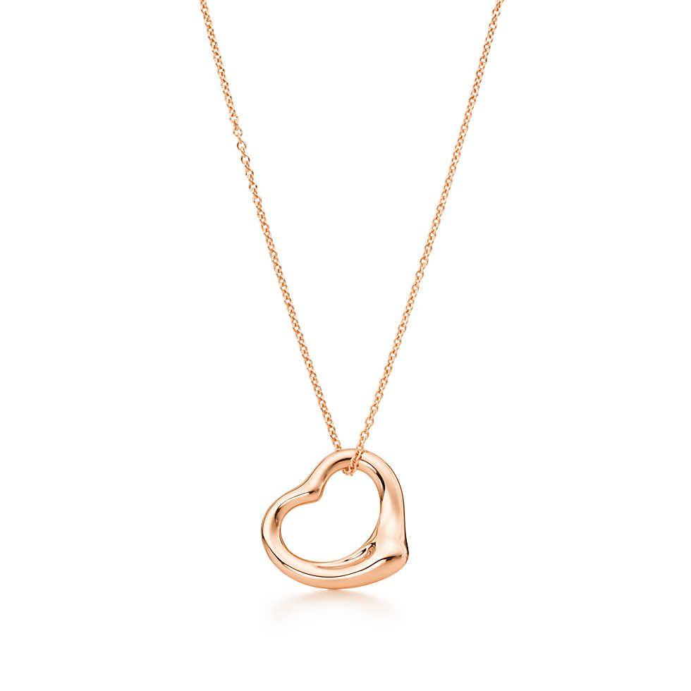 a7db369d3 Elsa Peretti® Open Heart pendant in 18k rose gold. | Tiffany & Co.