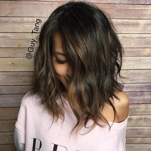 silver hair styles pictures baby lights on hair lob cut hair and makeup 6376