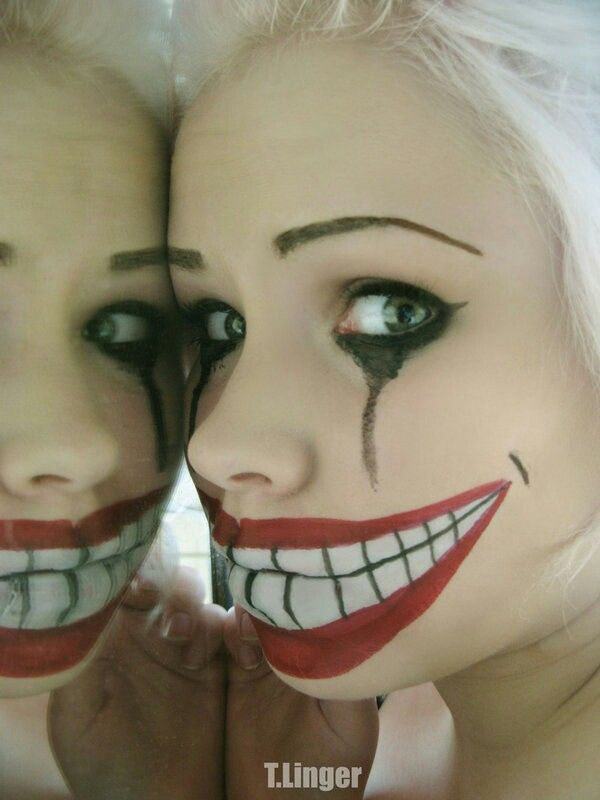 Fake smile halloween scary cute creepy makeup | Awesome Costumes ...