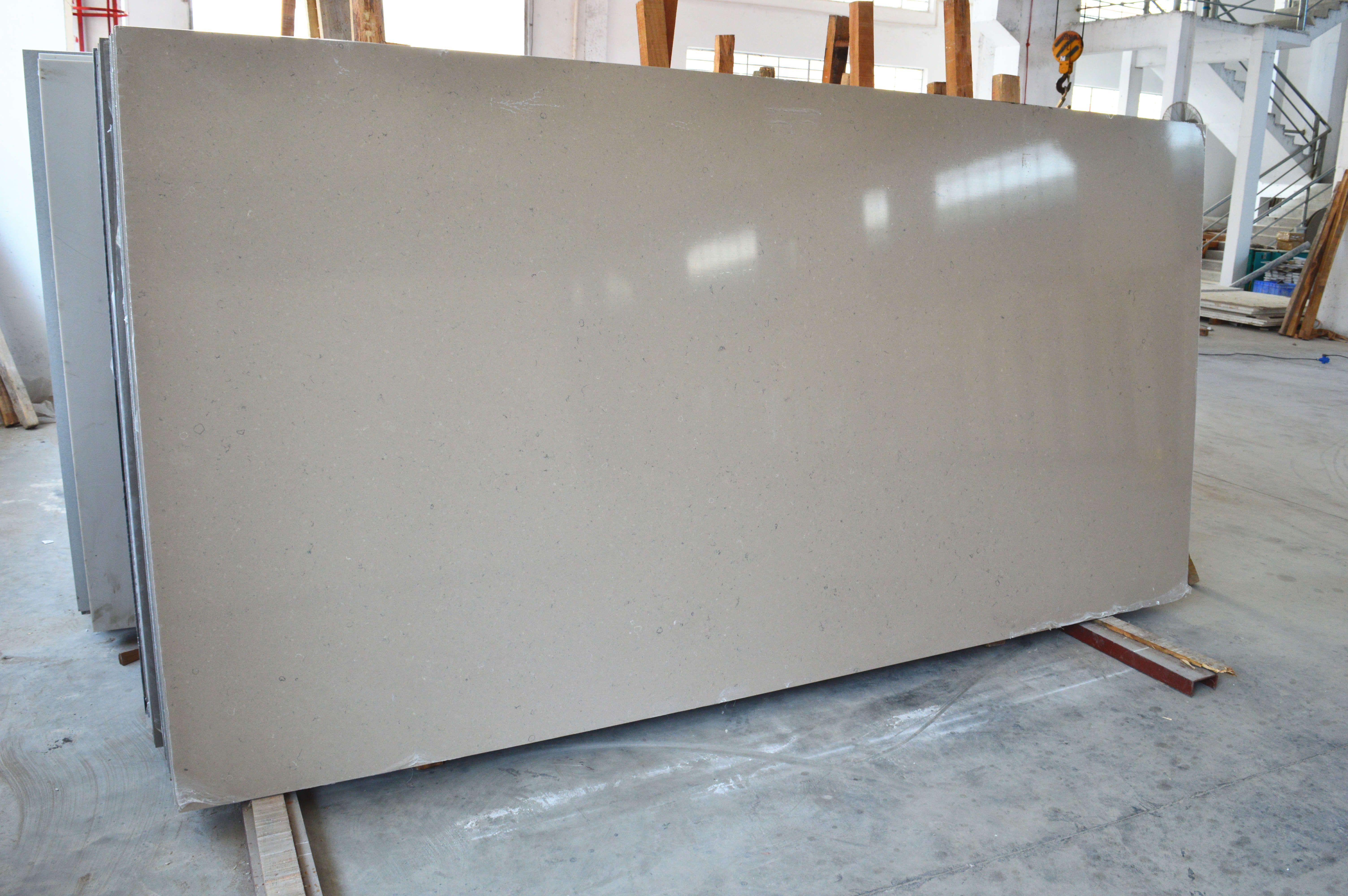 Quartz stone P57, brown quartz surface for kitchen