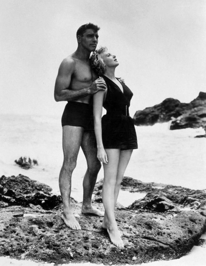 BURT LANCASTER and DEBORAH KERR (From Here to Eternity)