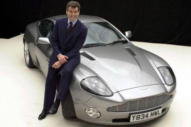 Pierce Brosnan; Aston Martin Vanquish | James Bond 007 | Pinterest