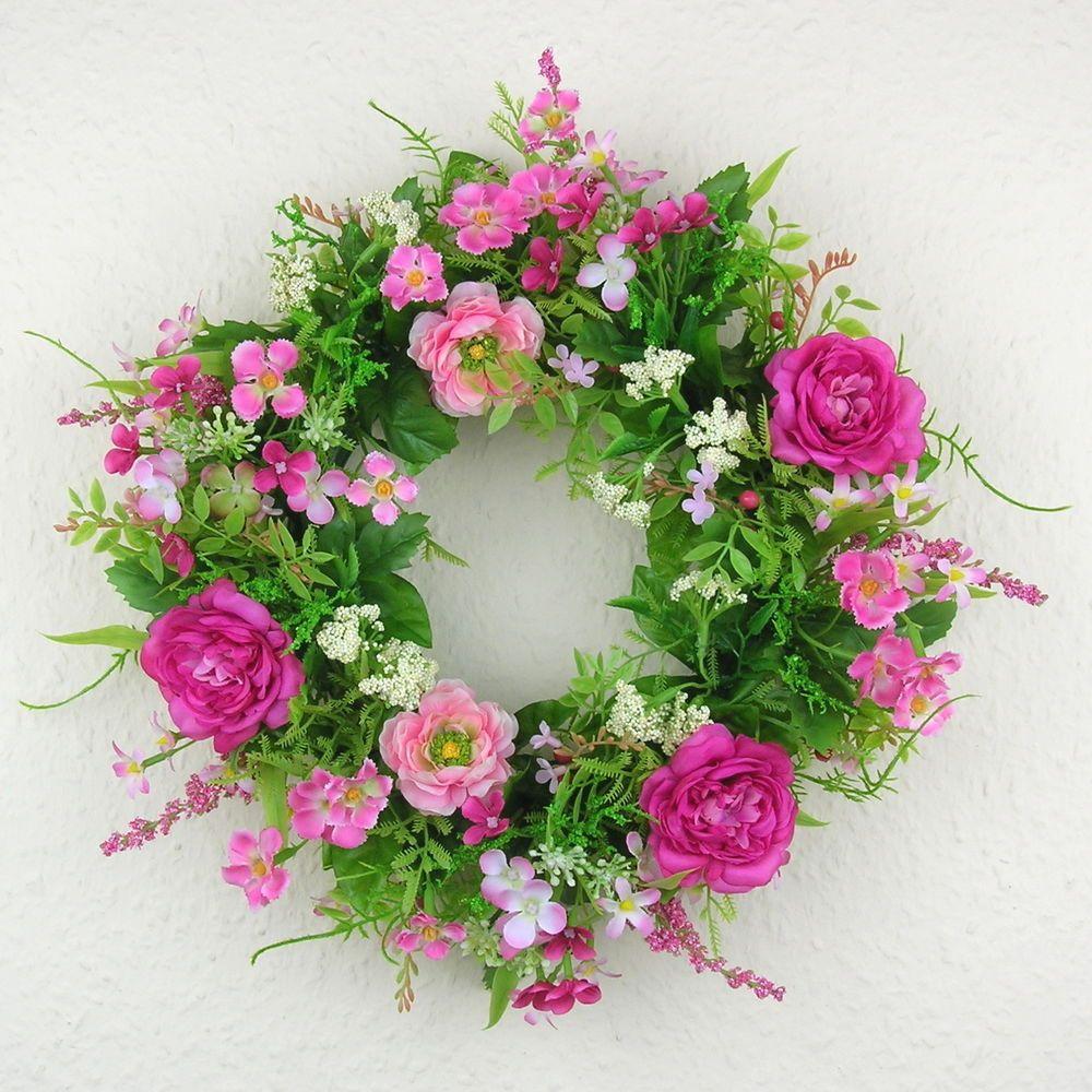 t rkranz ranunkel rosa pink wandkranz rosa 30cm t r kranz fr hling sommer rosa fr hlingskr nze. Black Bedroom Furniture Sets. Home Design Ideas