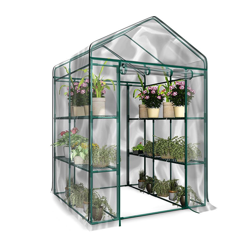 The Garden Greenhouse Can Keep Warm And Protect Your Plants From The Cold And Snowstorm To Provide More Comfor Pvc Greenhouse Planting Flowers Household Plants