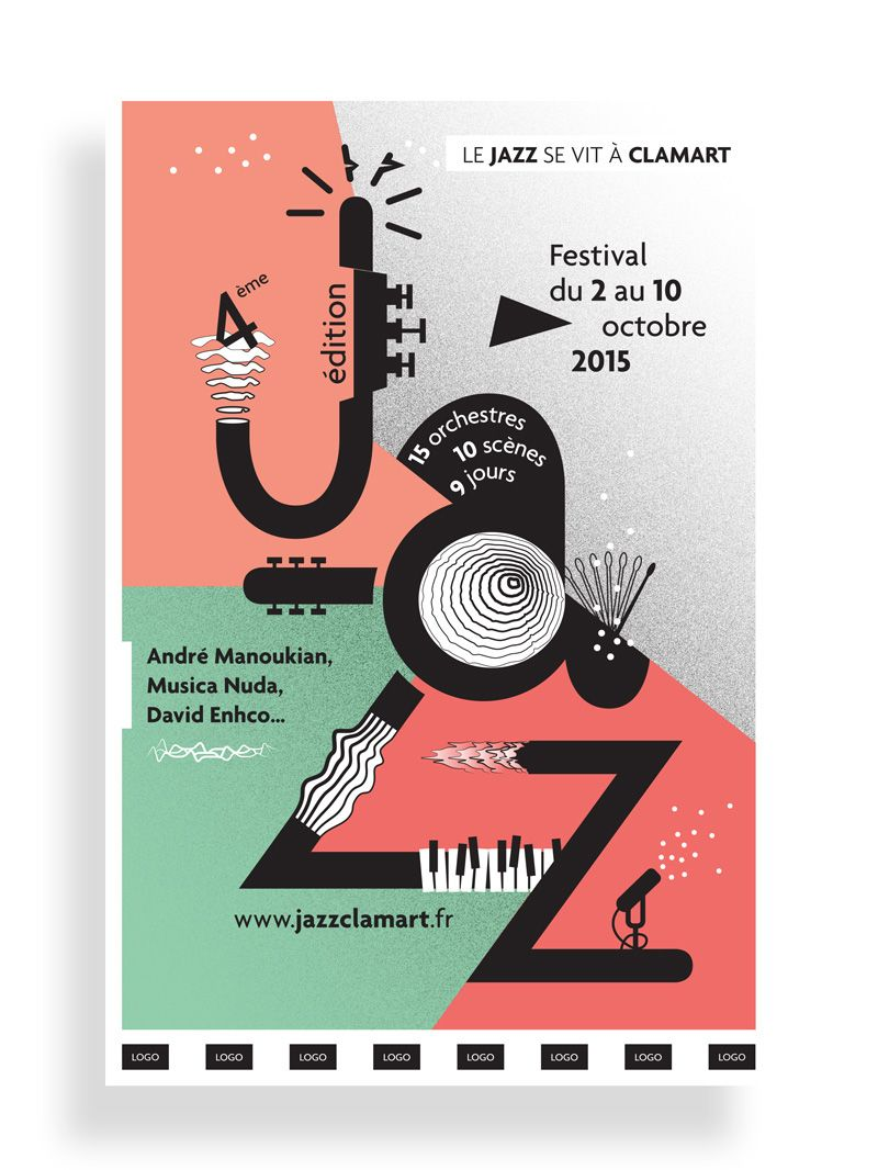 """New poster we created for """"Jazz à Clamart 2015"""" See more"""