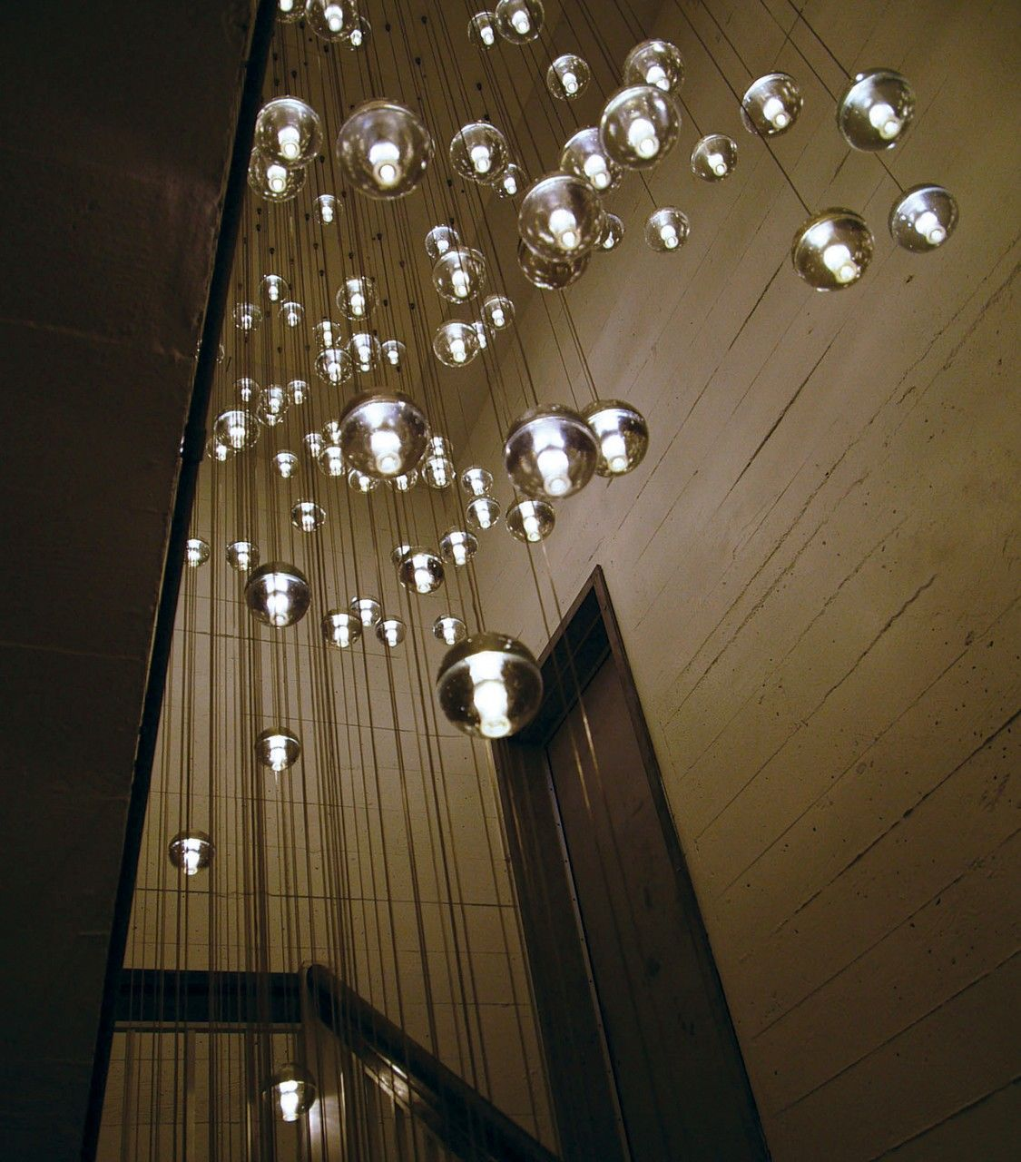Id love to do this in the stairwell but with the sky light above movie omer arbel on making chandeliers on an agricultural farm for canadian lighting company bocci arubaitofo Gallery