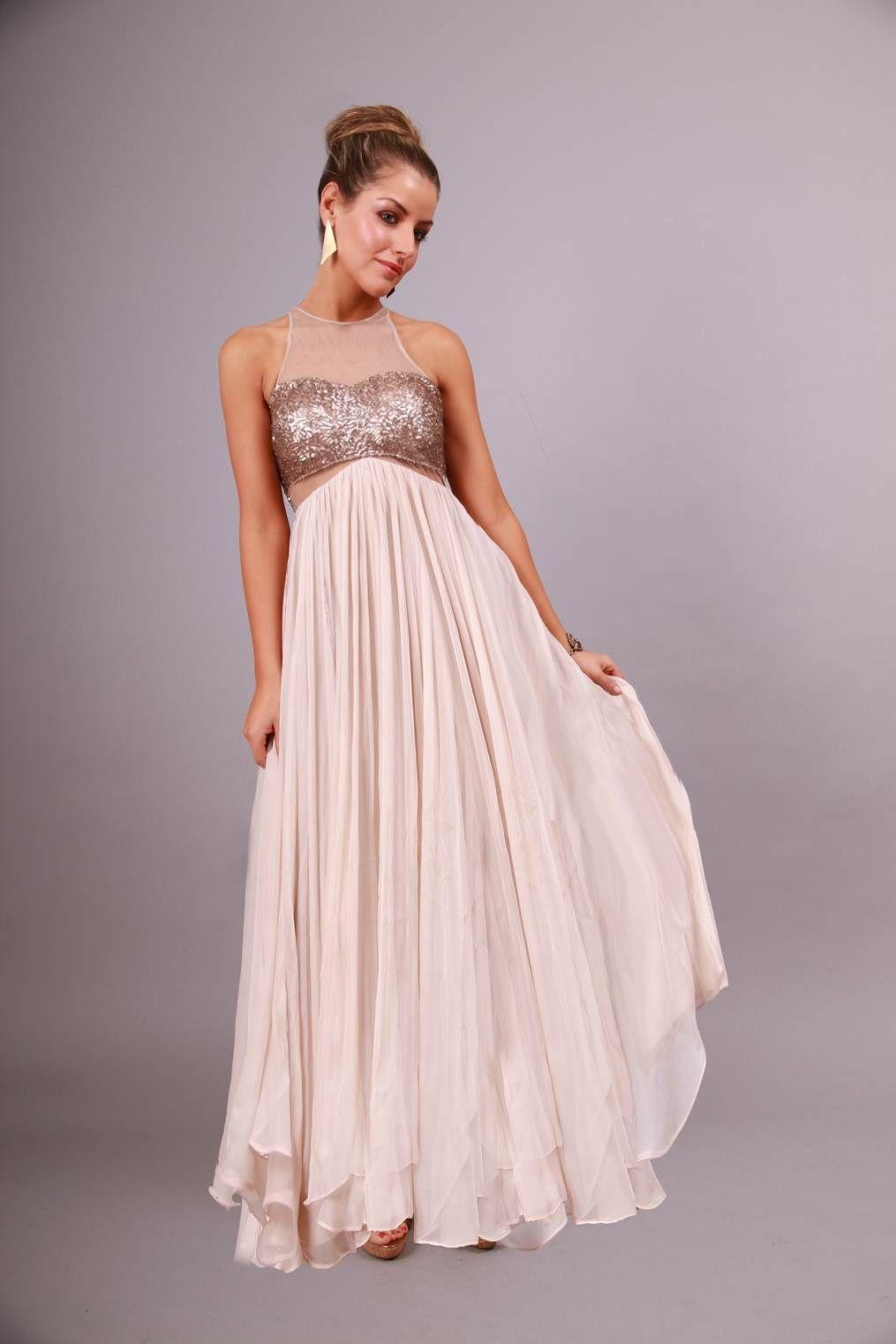Sequin Mesh Maxi Bariano R Summer 2011 Dresses
