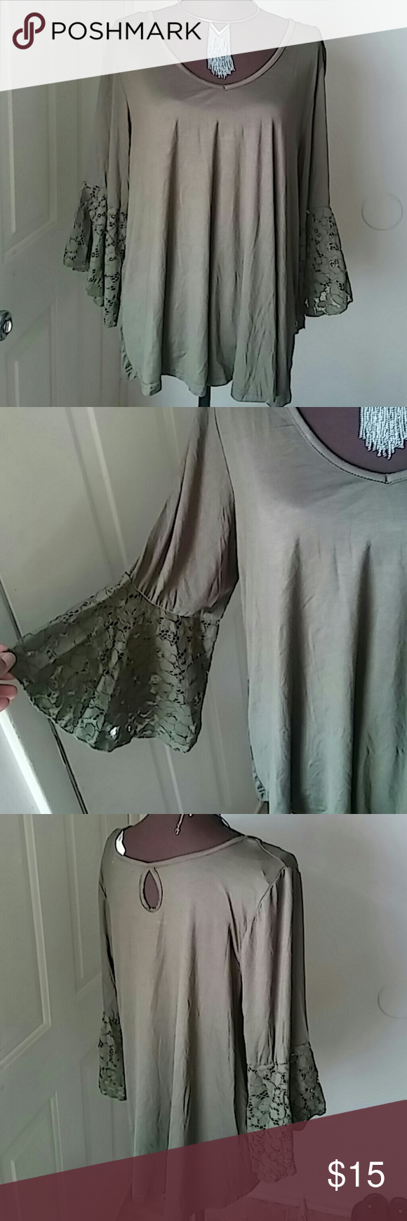 Woman's tunic. Very cute lace detail top. Brand new. Roommates Tops Tunics