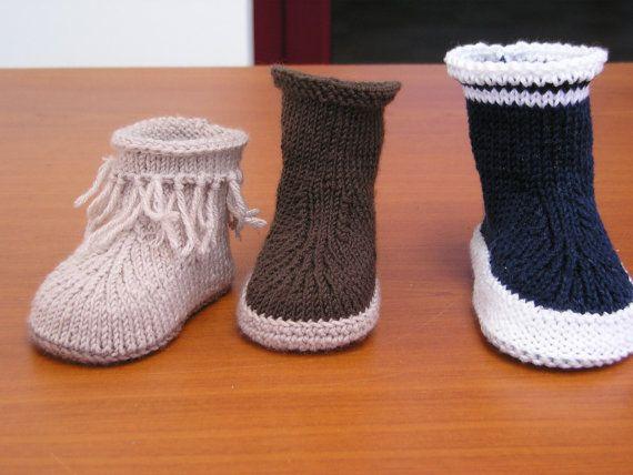b27a9d3e4f0ae Tuto Bottes bébé (3-6 mois ou 6-12 mois) Tricot et semelles au crochet  (mais possibilité de les faire au tricot) aig n°2.5-3 Tuto en français  format pdf à ...