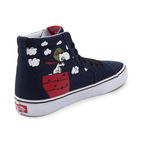 8f0f4cbcc98 Get ready for takeoff with the new Sk8 Hi Peanuts Flying Ace Skate Shoe  from Vans