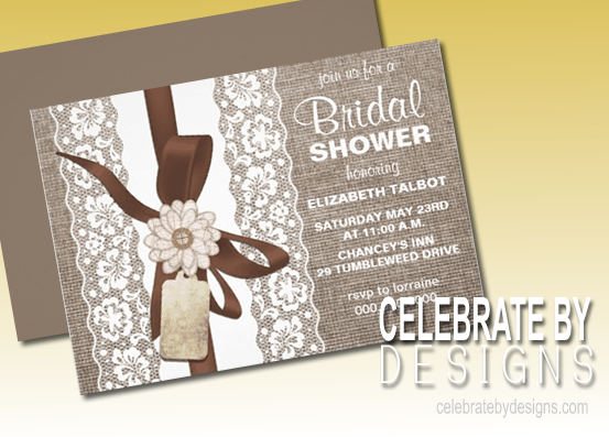 country rustic bridal shower invitation