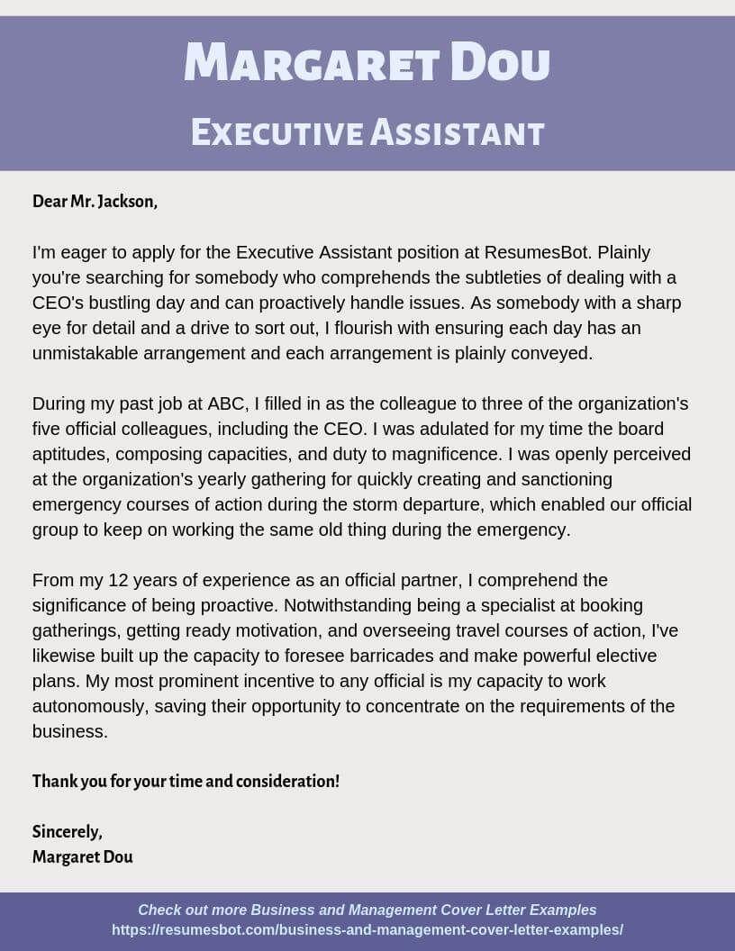 Cover letter example Cover letter for resume Resume