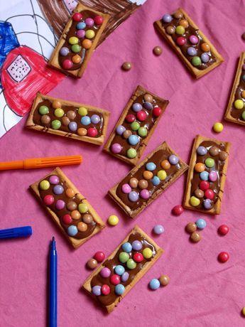 barres chocolat es aux smarties marie 39 s cooking le blog gouter dessert recette et gateau. Black Bedroom Furniture Sets. Home Design Ideas
