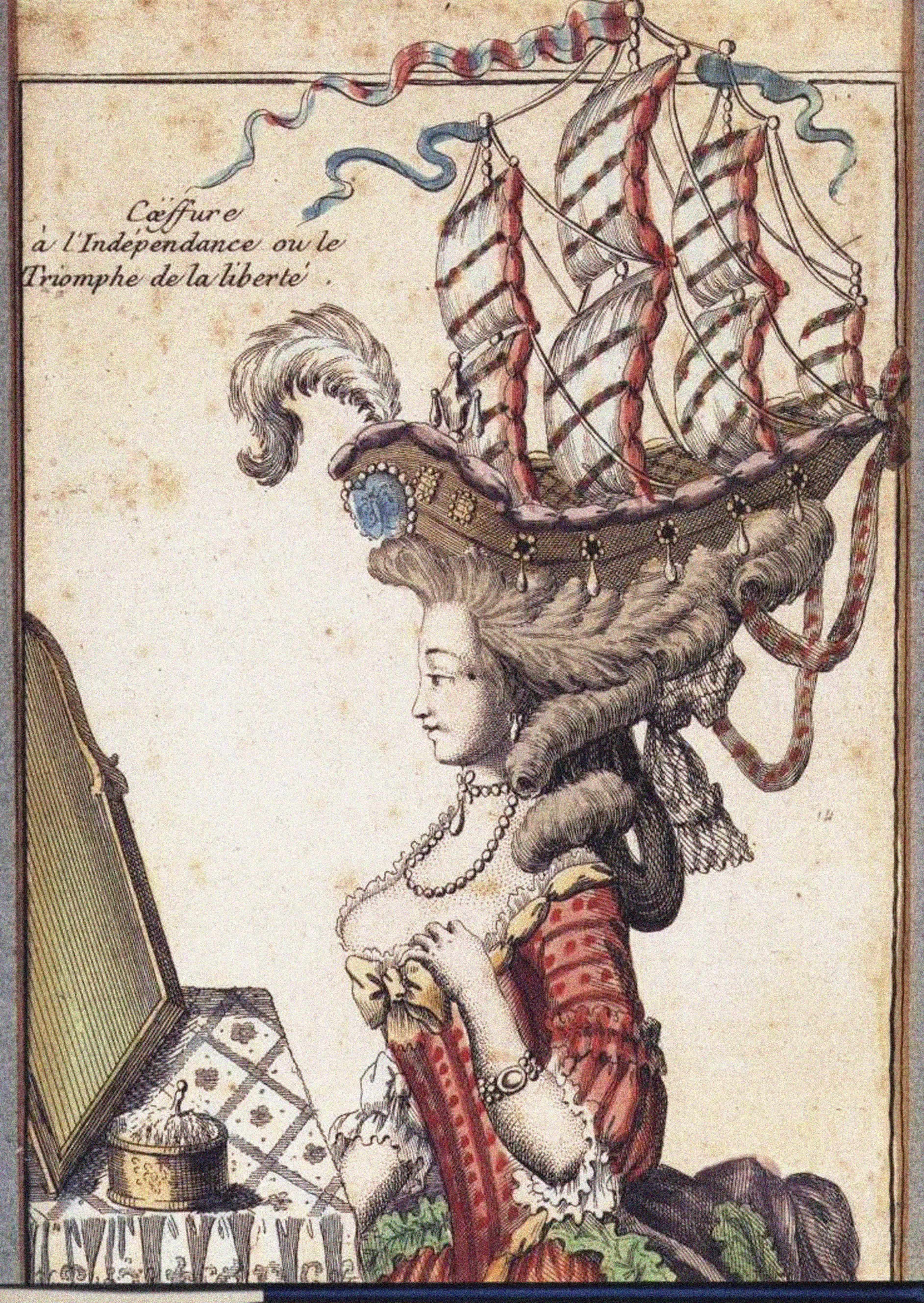 The Lady With A Ship On Her Head Stands As One Of The Most Potent Images Of The Extravagences Of Fashion During The Reign Of Marie Antoinette Canvas Prints Art