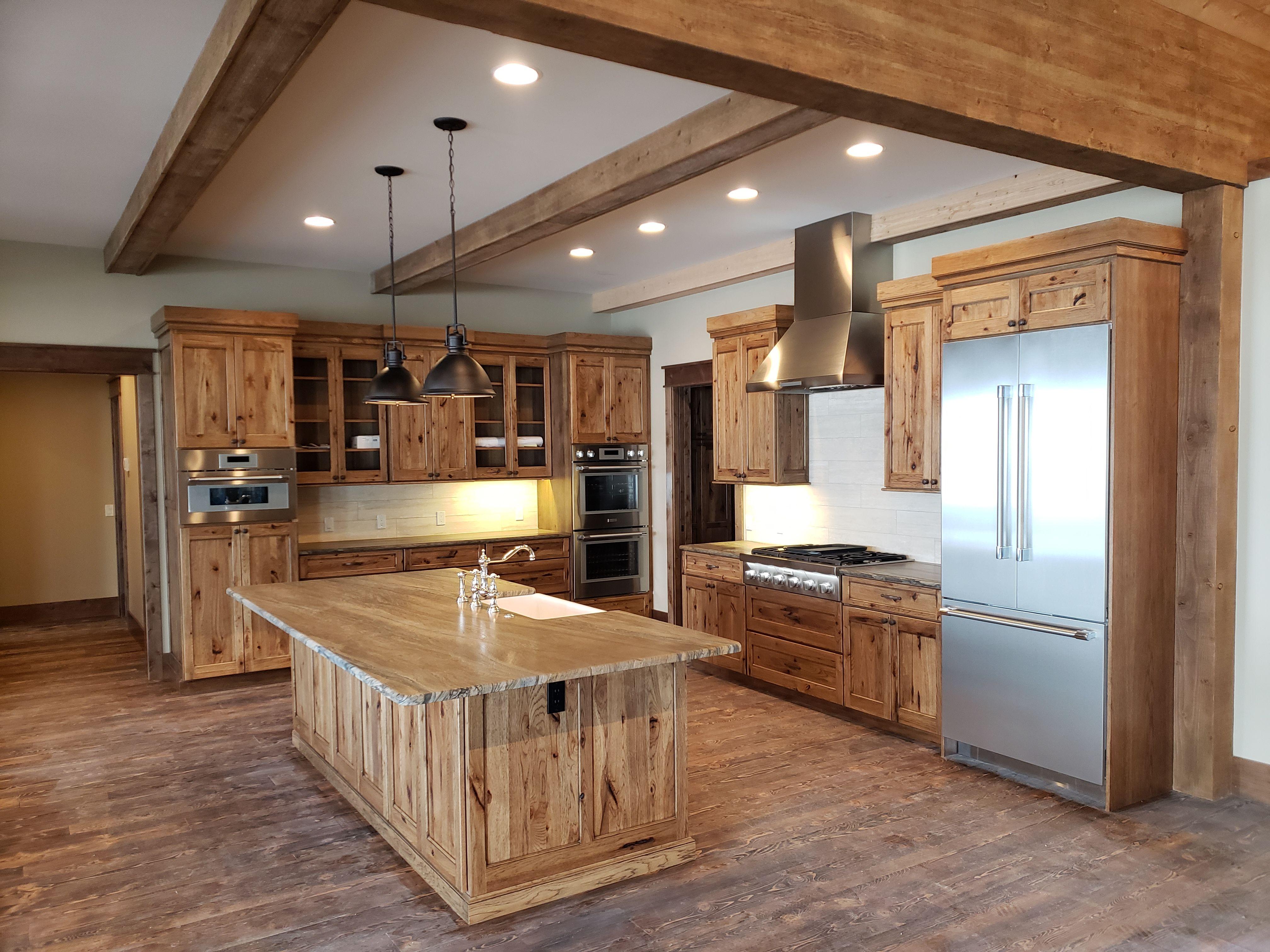 Home Interior design solutions, Rustic hickory