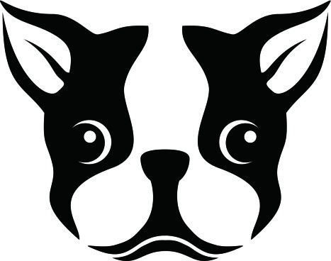 Boston Terrier Silhouette Stencil Clipart … | leather wallets to ...