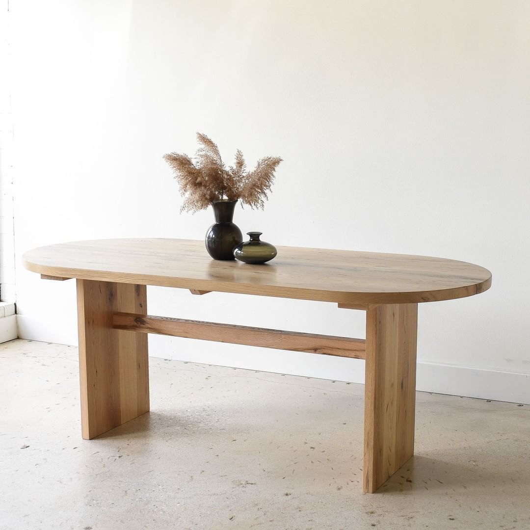 Wwmfurnishings Posted To Instagram A Recent Custom Oval Dining Table Crafted Out Of Rec Modern Furniture Websites Modern Wood Furniture Wood Furniture Design