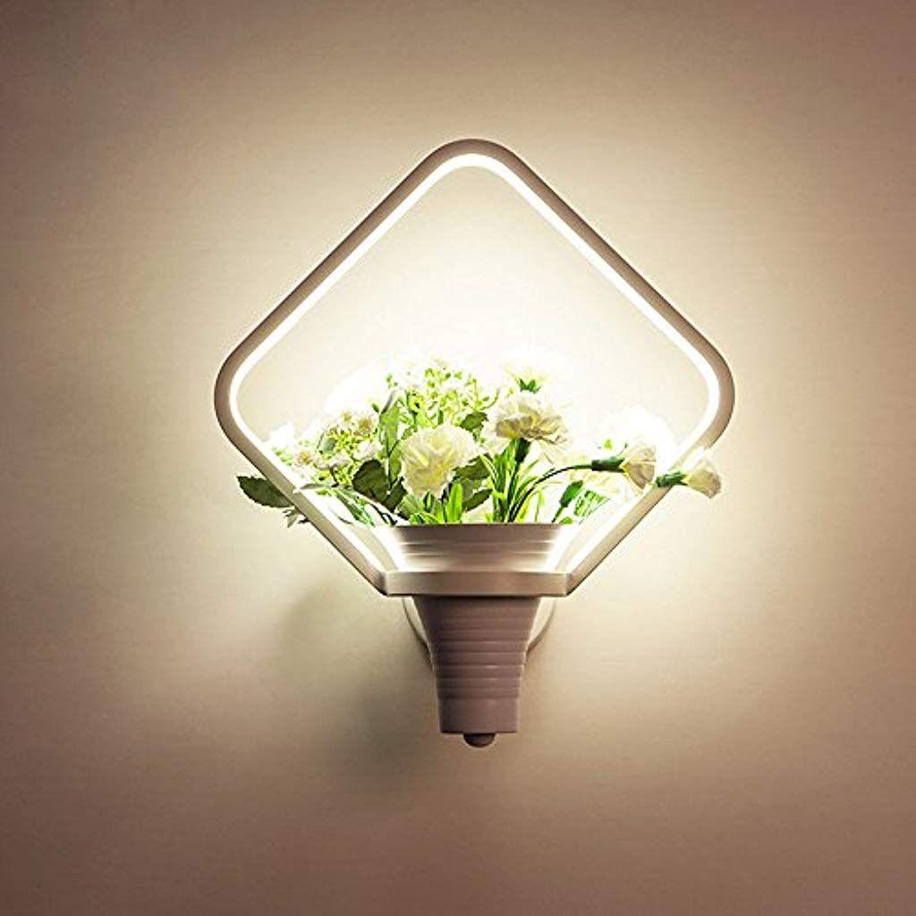 Gotwindy Innenwandleuchte Einfache Led Blumen Und Gras Wandleuchte Weiss Personlichkeit Moderne Wohnzimmer Nachtwandleuchte B Wandleuchte Wohnzimmer Modern Led