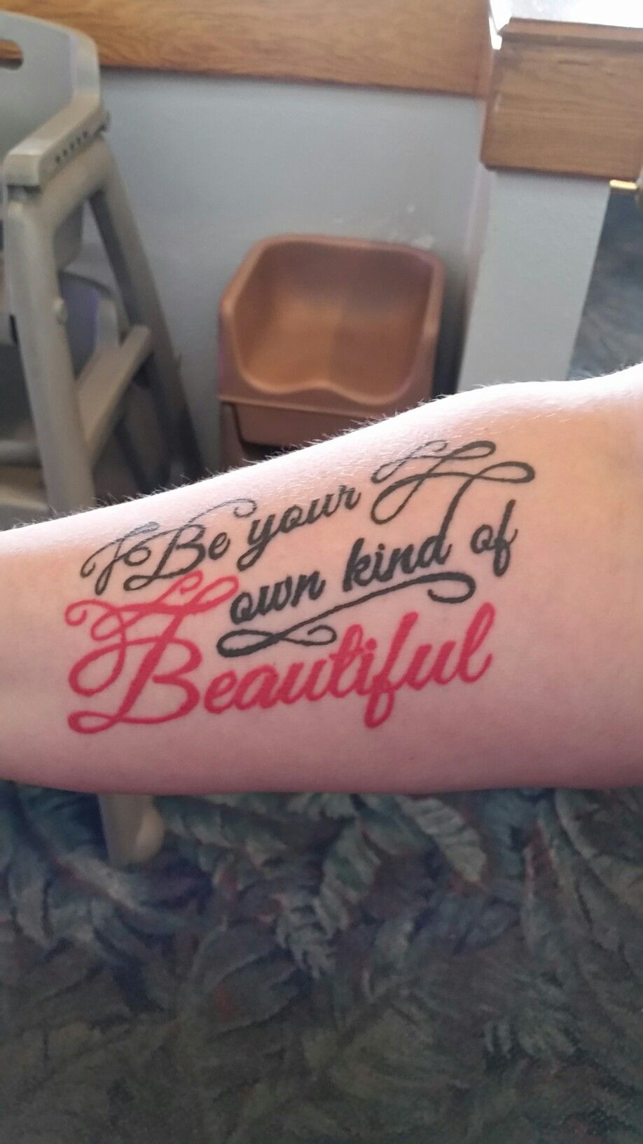 Be your own kind of beautiful.  I love this!