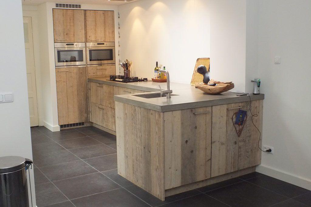 Kleine Landelijk Keuken : Landelijke keuken van steigerhout de landelijke keuken