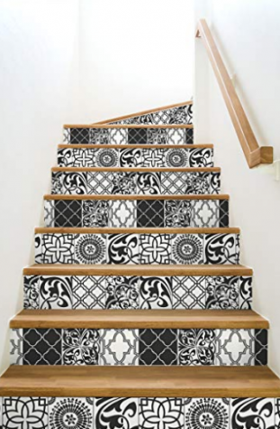 10 Easy Off Wallpaper Patterns For Your Home Peel And Stick Wallpaper Graphic Tiles Stick On Tiles